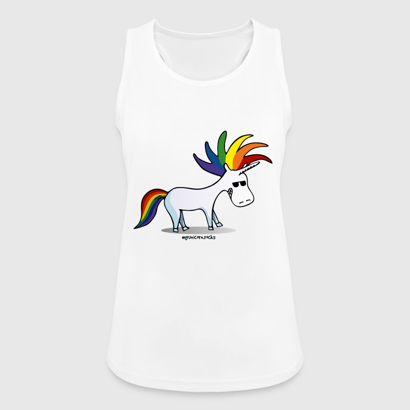 Punk Unicorn, Punky Unicorn - Camiseta de tirantes transpirable mujer