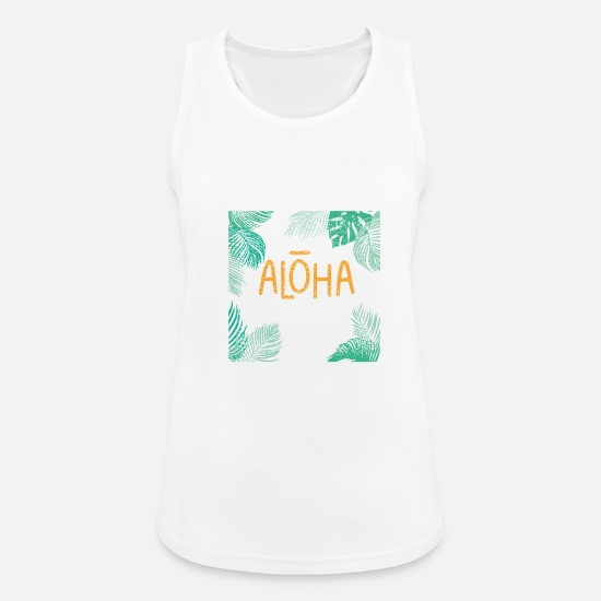 Birthday Tank Tops - Aloha Caribbean - Women's Sport Tank Top white