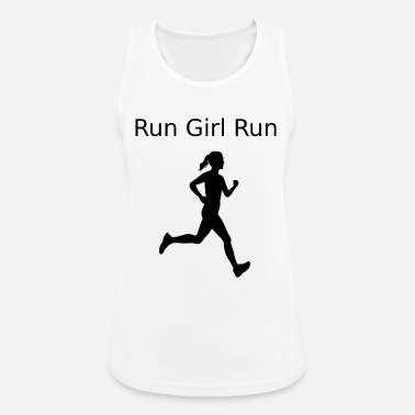 Run Like A Girl run girl run 2 - Women's Breathable Tank Top