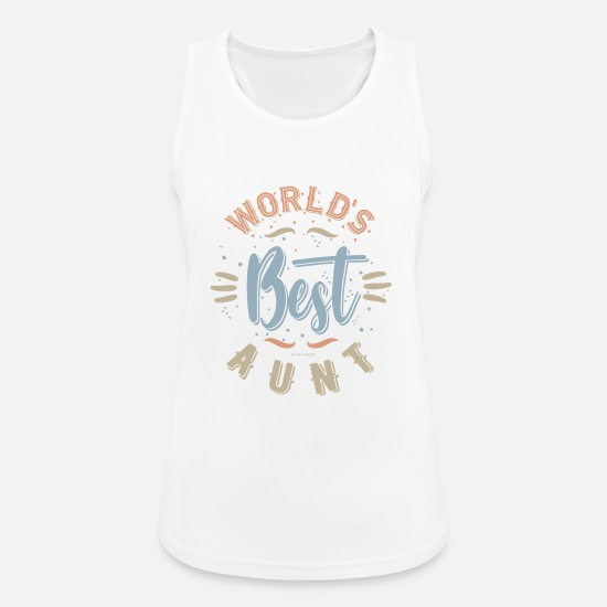 Grandmother Tank Tops - World's Best Aunt - Women's Sport Tank Top white
