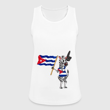 Cuban zebra - Women's Breathable Tank Top