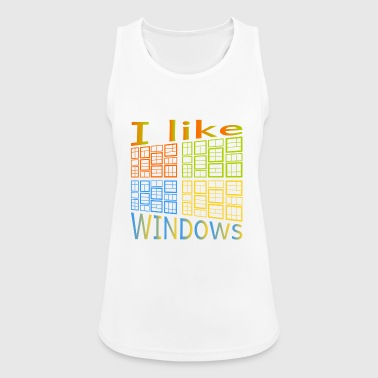Windows Mi piace di Windows - Top da donna traspirante