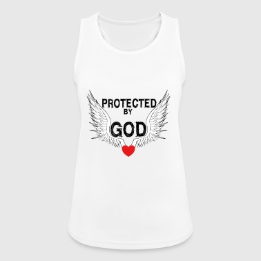 Jesus Protected by Jesus Christ Wings Heart Angel - Women's Breathable Tank Top