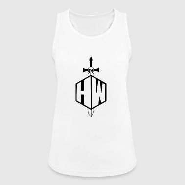 Black and White Logo - Women's Breathable Tank Top