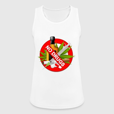 Drugs No drugs - Women's Breathable Tank Top