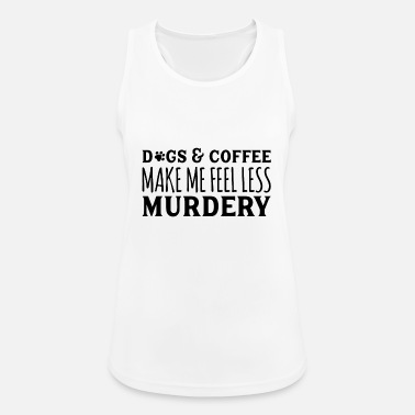 Coffee Dog lover coffee paw saying gift - Women's Sport Tank Top