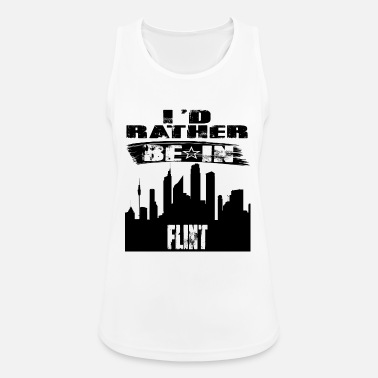 Flint Gift Id rather be in Flint - Women's Sport Tank Top