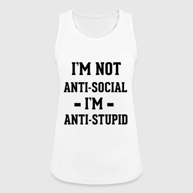 Anti-social - Frauen Tank Top atmungsaktiv