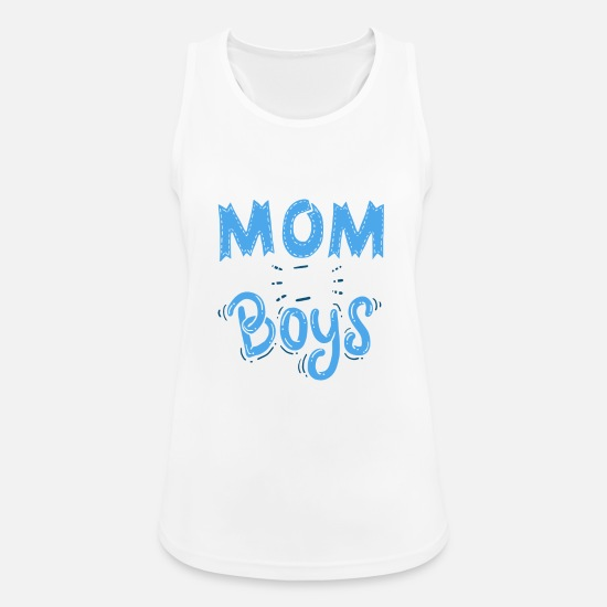 Familie Tanktops - Mother of Guys - Mother's Day - Gift - Vrouwen sport tank top wit