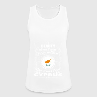 beauty comes from CYPRUS png - Women's Breathable Tank Top