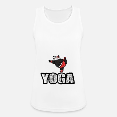 New Age Dancing Yoga Bear Vintage Retro New Age - Vrouwen tanktop ademend