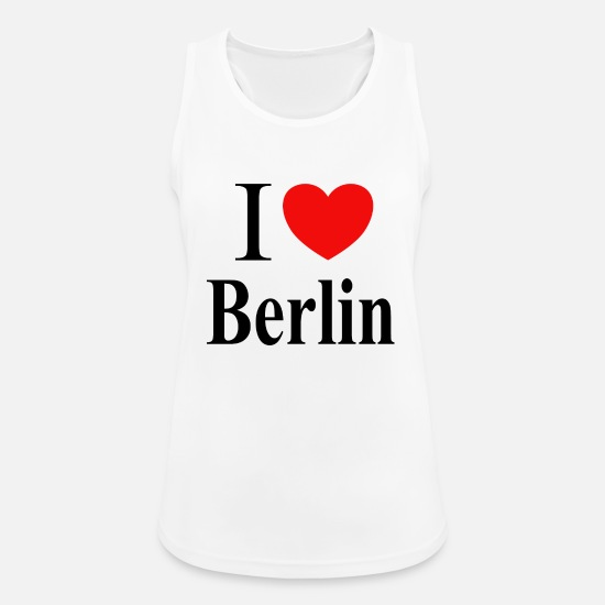 I Love Berlin Tanktops - I love Berlin - Vrouwen sport tank top wit