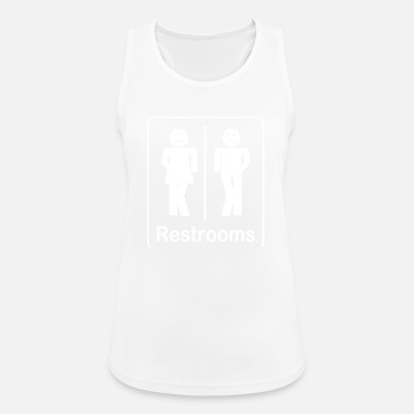 Restroom Restrooms - Toilets Shirt - Women's Sport Tank Top
