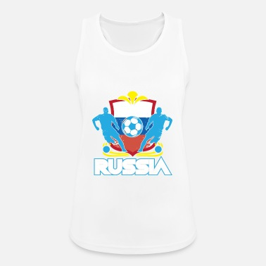 Officialbrands World Soccer Russia / Football Love T-skjorte - Sportsinglet for kvinner