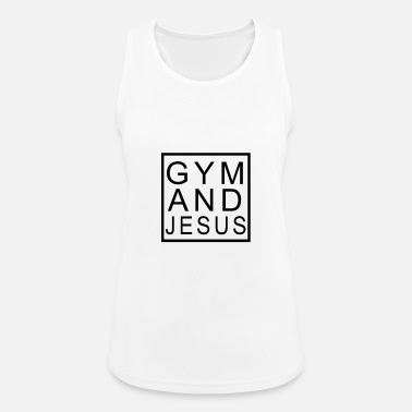 Fitness Center Fitness Center and Jesus - Women's Sport Tank Top