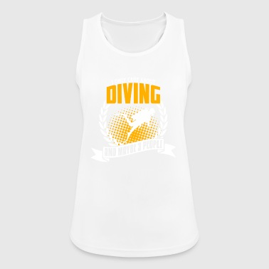 I Only Care About Diving - Women's Breathable Tank Top