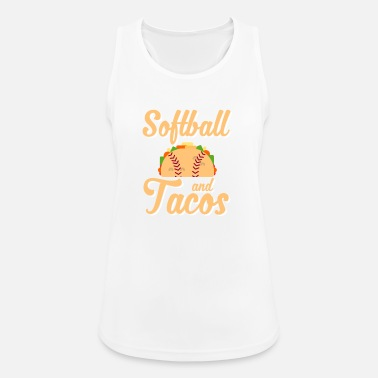 Novelty Softball And Tacos Funny Novelty - Women's Breathable Tank Top