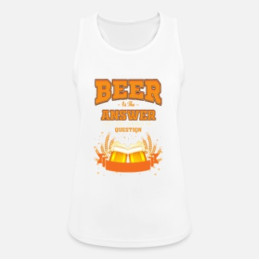 Rude Alcoholic Drink / Beer Drinking / IPA Booze Lager - Women's Sport Tank Top