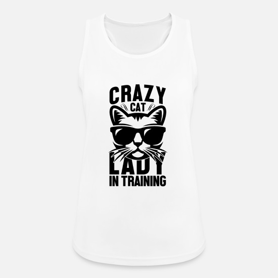 Animal Lover Tank Tops - Crazy cats woman - Women's Sport Tank Top white