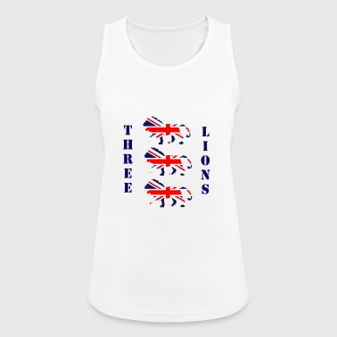 Fan England Soccer Three Lion Flag Shirt - Women's Breathable Tank Top