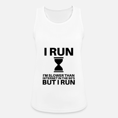 Powolny Running Quote Funny Internet Slow Runner - Sportowy top damski