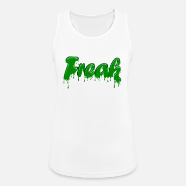 Gloopy Writing Green Gloop Freak - Women's Sport Tank Top
