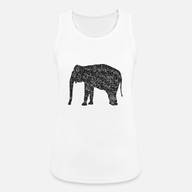 Illustration Elefant als Illustration - Frauen Sport Tanktop