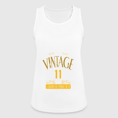 Meme Vintage 11 Years Crafted To Perfection - Women's Breathable Tank Top