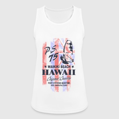 Hawaii Surfing - Hawaii Vintage Flag - Women's Breathable Tank Top
