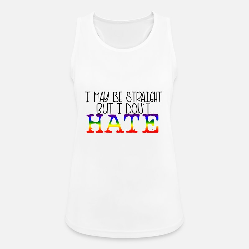 Gay Pride Tank Tops - Straight support - Women's Sport Tank Top white