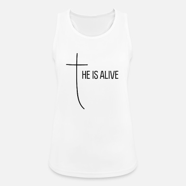 He is alive - Frauen Sport Tanktop