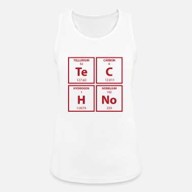 Periodic Techno Periodic Table Chemistry Raving Party - Sports tanktop dame