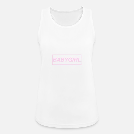 Baby Girl Tank Tops - Baby Girl - Women's Sport Tank Top white