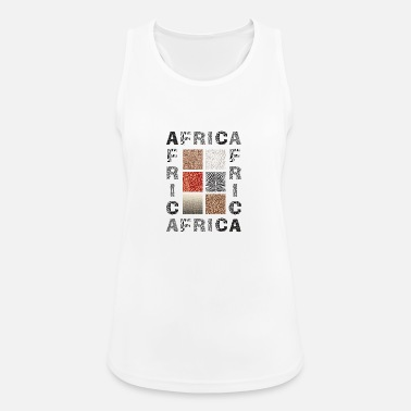 Wild Africa background with wild animal - Women's Sport Tank Top