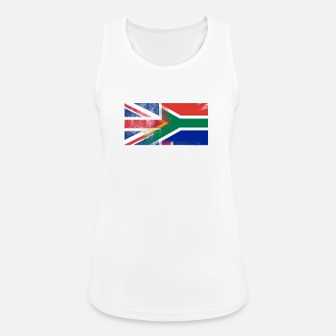 South Africa British South African Half South Africa Half UK Fl - Women's Breathable Tank Top