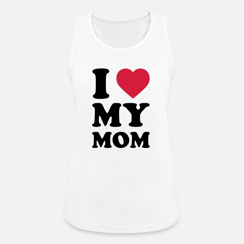 Love Tanktoppar - I LOVE MY MOM - Sporttanktopp dam vit