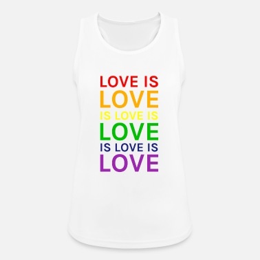 Love Love is Love is Love is Love Rainbow - Women's Breathable Tank Top