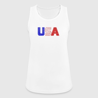 USA ster blauw, wit, rood - Vrouwen tanktop ademend