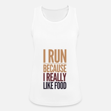 runners like food - Vrouwen tanktop ademend