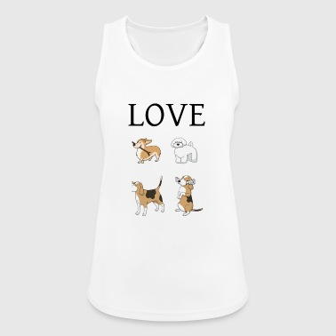 I Love Dog Love / Dog Love - Top da donna traspirante