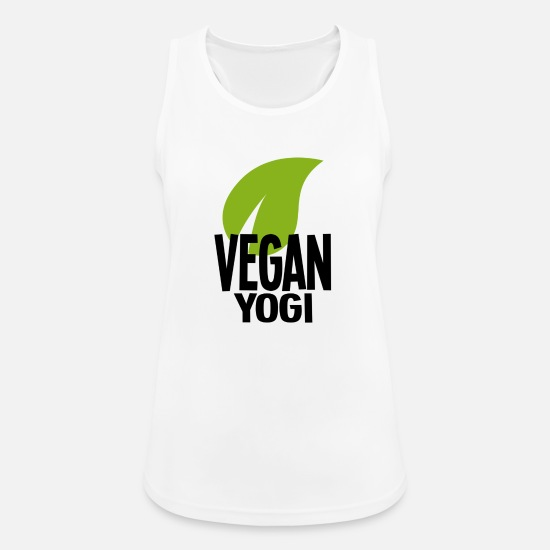Yogi Tank Tops - Vegan Yogi Shirt black - Women's Sport Tank Top white