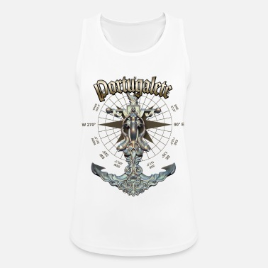Portugalete Anchor Nautical Sailing Boat Summer - Women's Sport Tank Top