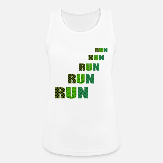 Running Tank Tops - run run run run - Women's Sport Tank Top white