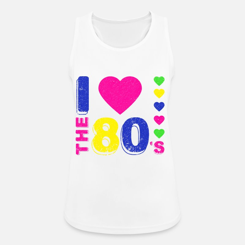 80s Tank Tops - Disco.I love the 80's. 80's Style. 80's Music - Women's Sport Tank Top white
