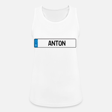 Name Tag Anton name tag gift - Women's Breathable Tank Top