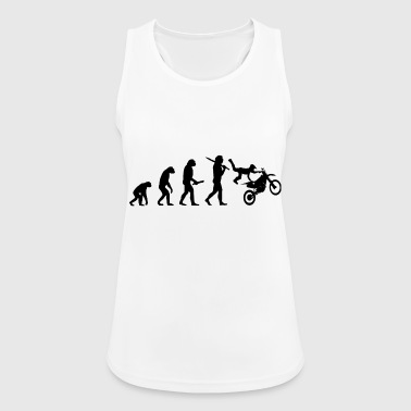 motocross stunt evolution progress development - Women's Breathable Tank Top