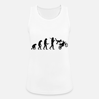 Stunt motocross stunt evolution progress development - Women's Breathable Tank Top