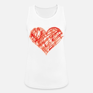 Finger Painting Heart made of finger paint - Women's Sport Tank Top