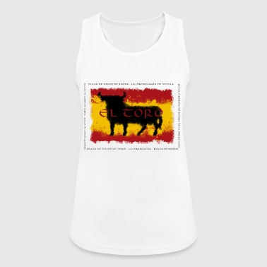 Bandera Spain Flag with bull - Frauen Tank Top atmungsaktiv