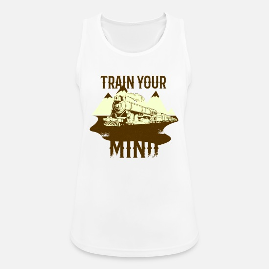 Steam Engine Tank Tops - train - Women's Sport Tank Top white